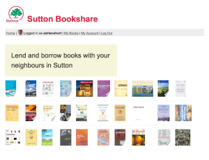 Sutton Bookshare home page